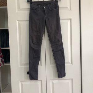 J brand gray jeans skinny size 25